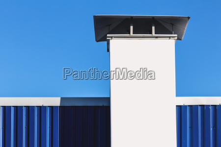 chimney on building rooftop