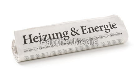 newspaper roll with the heading heating
