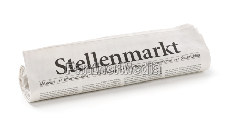 newspaper roll with the heading job