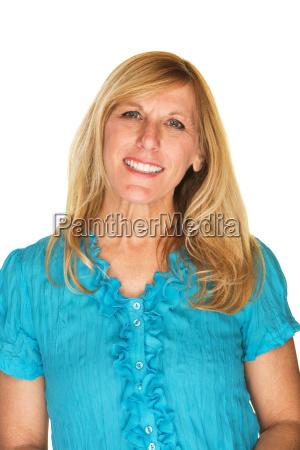 friendly blond female