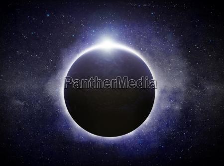 eclipse auf dem planeten erde