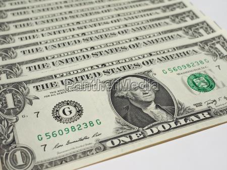dollar noten 1 dollar