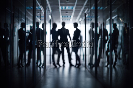 discussion in corridor