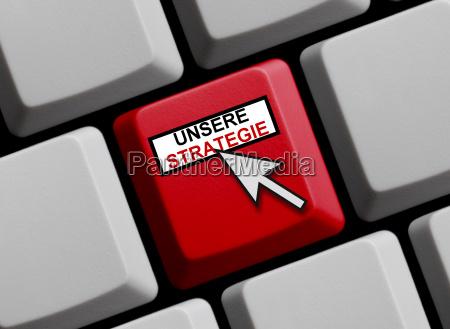 rote tastatur mit mauspfeil unsere strategie