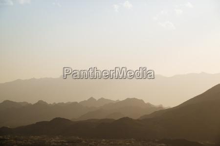 sunset mountains oman