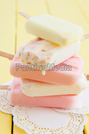 various colorful ice cream on the