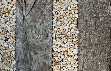 pebbles and wood
