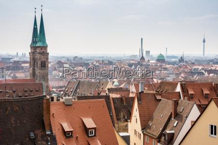 view over nuremberg city