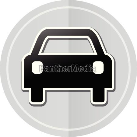 car sticker icon