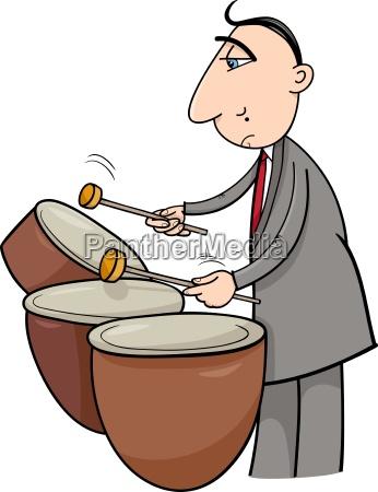 drummer musician cartoon illustration