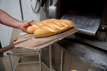 hot frisch gebackenes brot