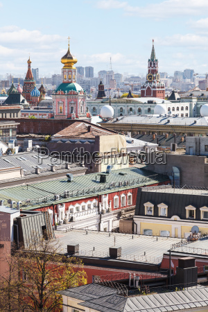 moscow city landscape with kremlin