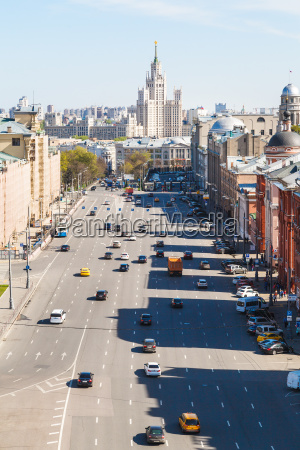 lubyanka square in historical center of