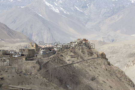 gompa oder kloster in jharkot mustang