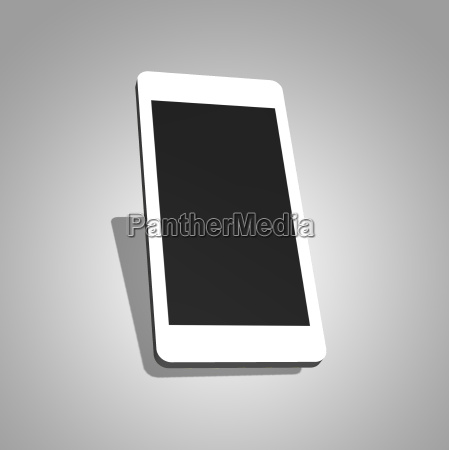 mobile phone 3d plain graphic on