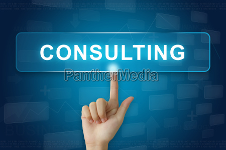 hand press on consulting button on