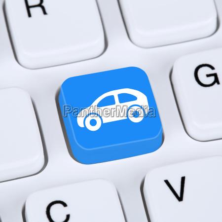 internet konzept auto oder fahrzeug kaufen