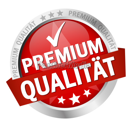 button with text premium qualitaet