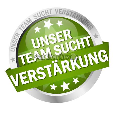 button with text unser team sucht