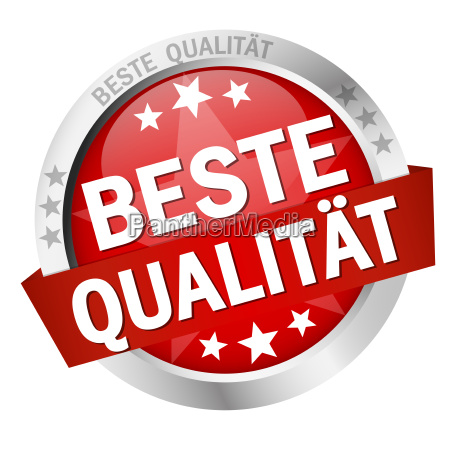 button with text beste qualitaet