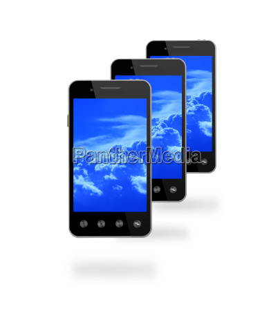 smart phones with picture of blue