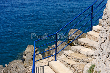 stairs and sea