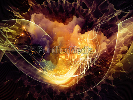stream of abstract visualization