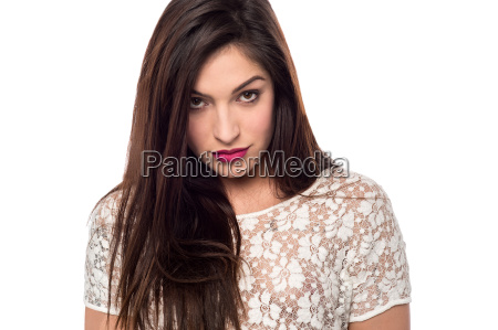 beautiful woman posing to camera