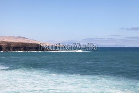 Fuerteventura, Kanarischen Inseln, Kanaren, Schwarzer Strand, Schwarzer Sand, Atlantischen Ozean - 14156091