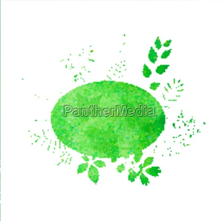 summer watercolor background with green grass