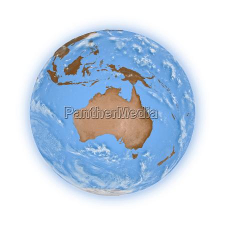 australien auf dem planeten erde