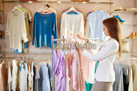 looking through new blouses