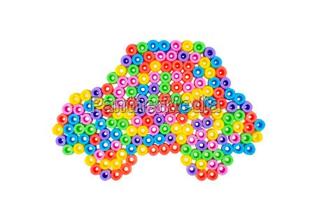 auto aus bunten perlen