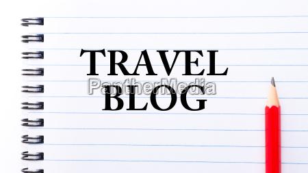 travel blog text written on notebook