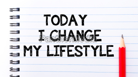 today i change my lifestyle text