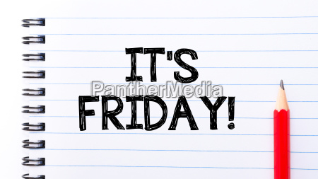 it is friday text written on