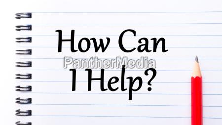 how can i help text written