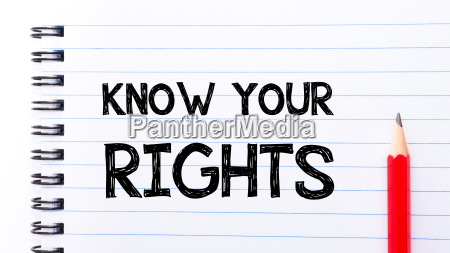 know your rights text written on