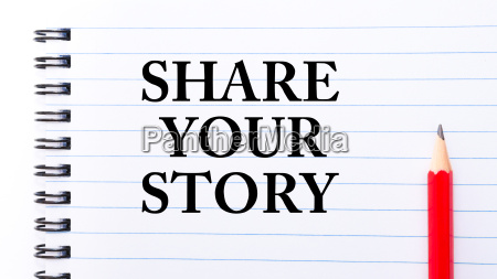 share your story text written on