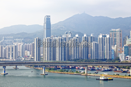 high speed train bridge in hong