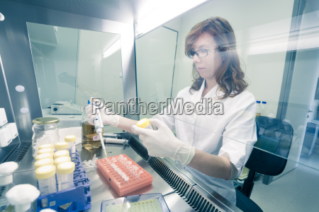 life scientist researching in the laboratory