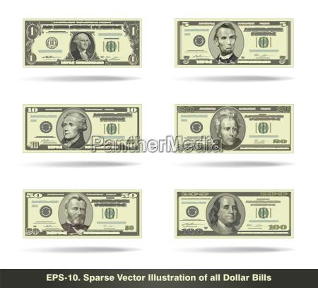 all dollar bills flat