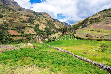 peruvian landscape view