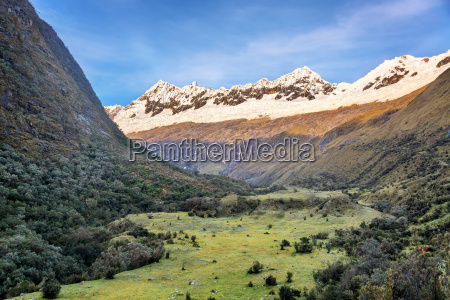 andes mountains and valley