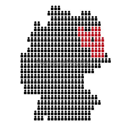 karte von deutschland aus icons bundesland