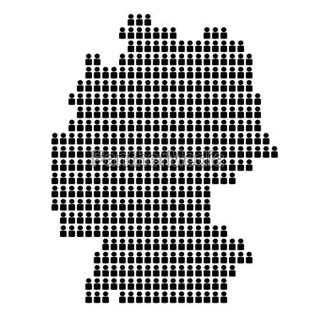 karte von deutschland aus icons deutschland