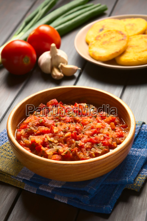 colombian hogao or criollo sauce