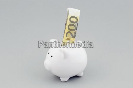 200 euro schein in sparschwein