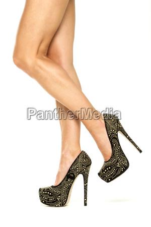 beautiful female legs in high heels