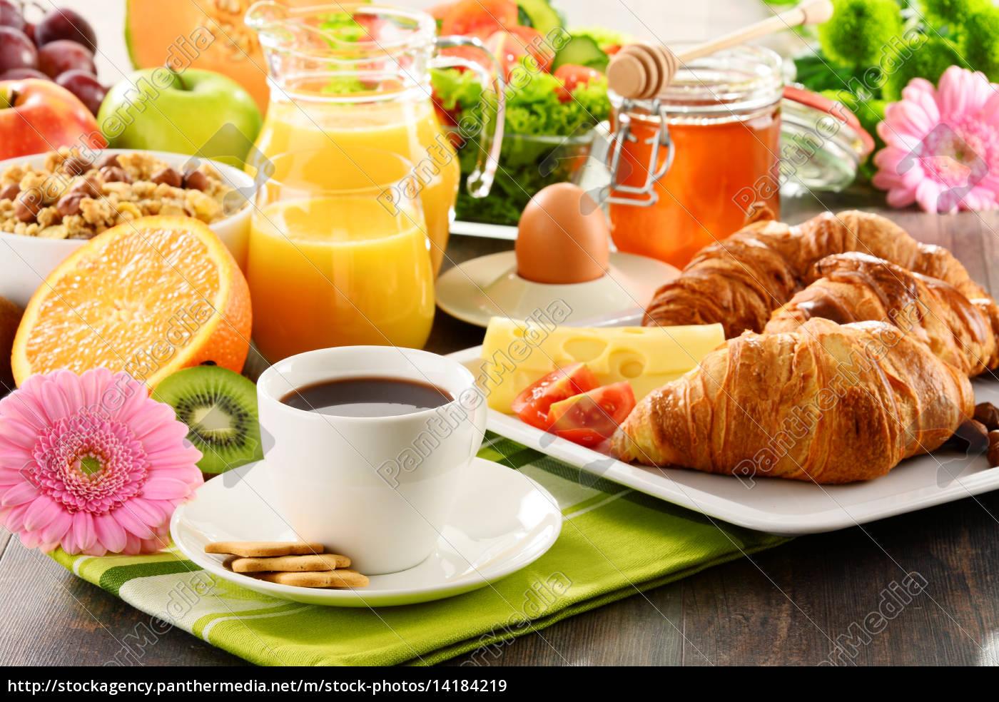 komposition, mit, frühstück, auf, dem, tisch. - 14184219
